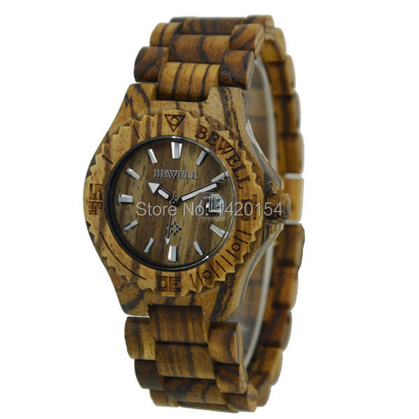 Bewell Zebra Wood Watch 3ATM Japan Quartz Movement Mens Wooden Watch in Stock бокорез three mountain in japan sn130 3 peaks