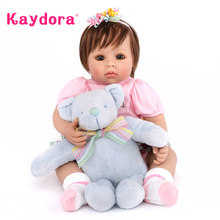 Kaydora 50 CM Adorable Princess Handmade boneca bebe reborn surprise Lifelike Doll Reborn lol Kids Playmate Alive Dolls Girls(China)