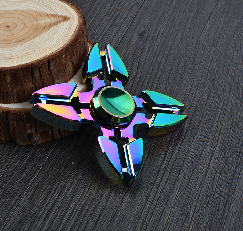 Colorful Finger Tri-spinner 2017 Fidget Kid Gift Hand Spinner for Autism And ADHD Reduce Stress Focus Finger Toys for Children
