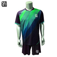Custom Best Quality Soccer Jerseys Polyester Quick Dry Soccer Uniforms Sets Sublimation Men And Kids Football