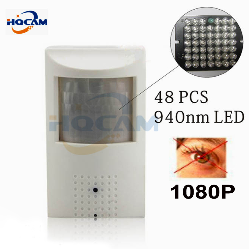 HQCAM 1080P mini ip camera IR 940nm 48pcs led Security Network Night vision Camera PIR IR IP Camera PIR Motion Detector Kamera hqcam 420tvl sony ccd 940nm led camera pir mini camera covert audio night vision camera pir ir camera pir motion detector