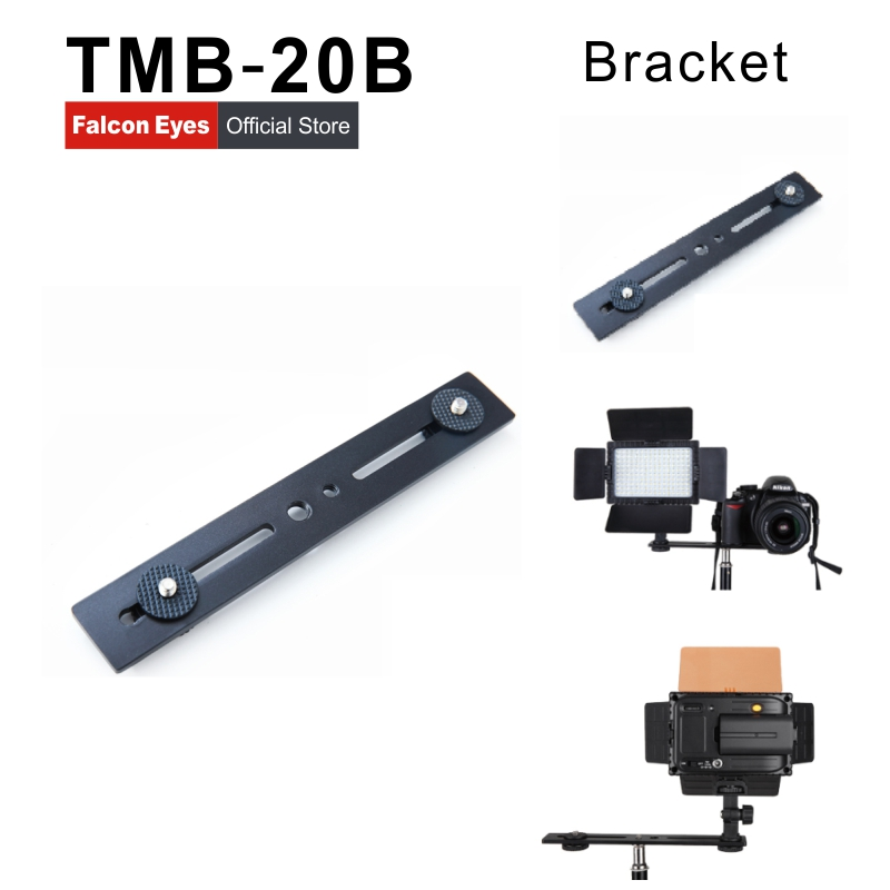 Camera Flash Bracket Light Stand Mount Holder with two Hot Shoe for Universal flash Photo Studio Accessories TMB 20B 30D in Photo Studio Accessories from Consumer Electronics