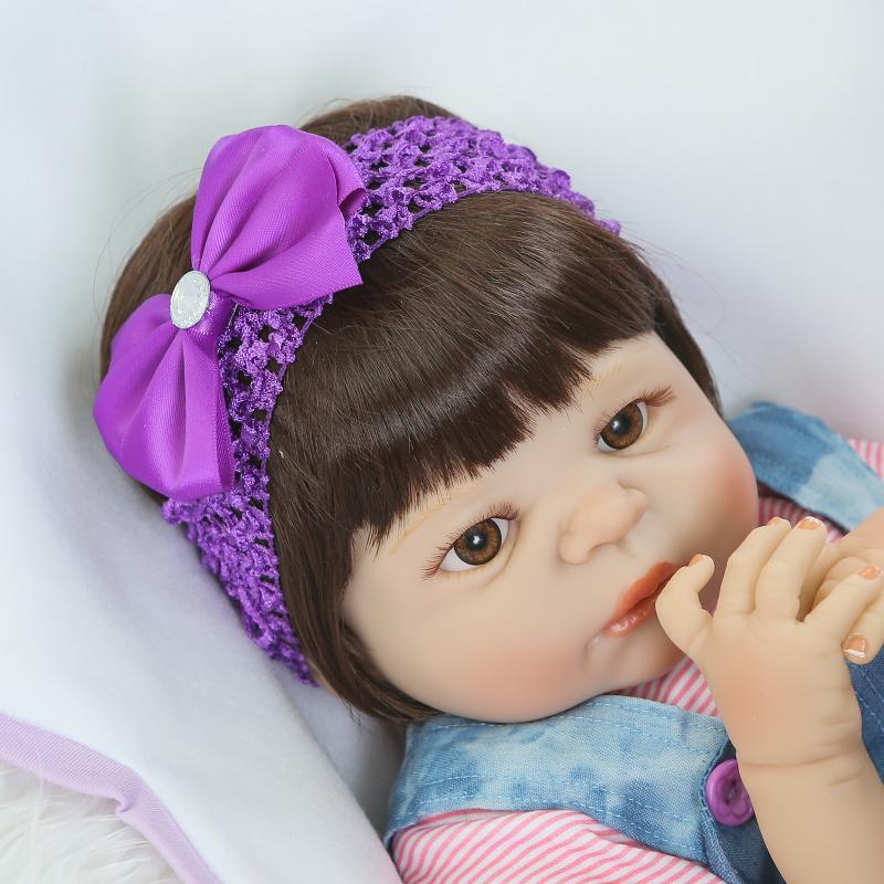Kawaii Renacido Bebés 22 pulgadas de Cuerpo Completo de Silicona - Muñecas y accesorios - foto 2