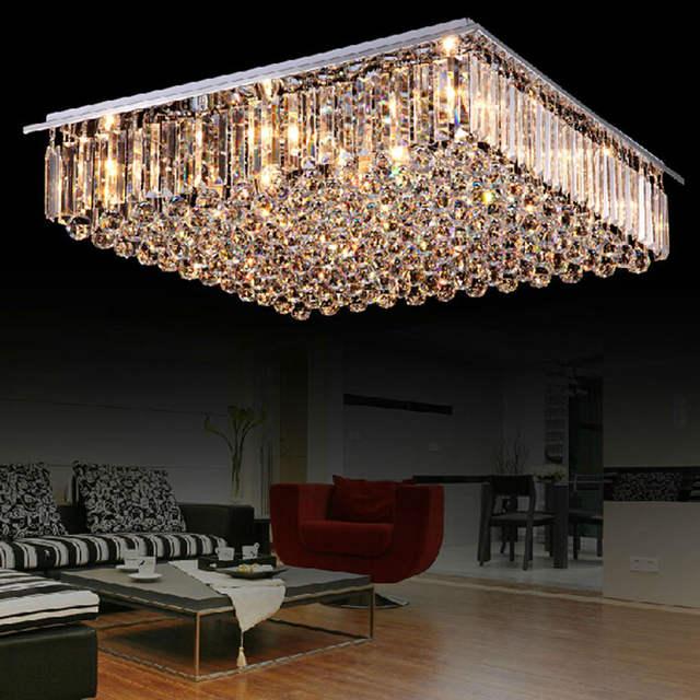 Moderne led esszimmer kronleuchter große kristall lampe schlafzimmer  atmosphäre wohnzimmer lichter bunte einfache rechteckige villa