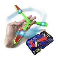 Kids Light Up Spinner Antistress Toys For Children LED Butterfly Knife Fidget Spinner Toy Hand Begleri