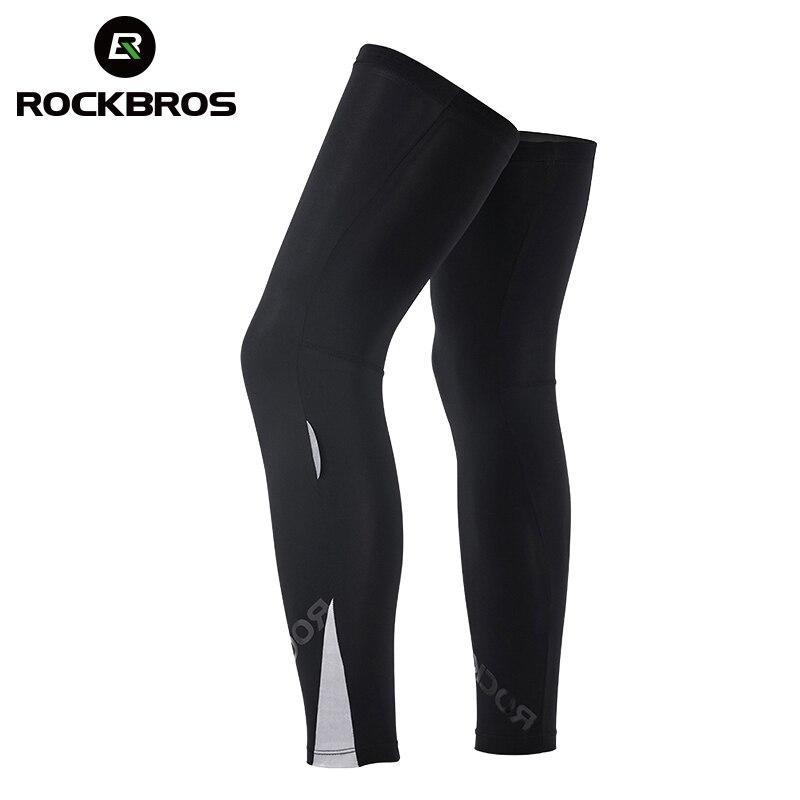 ROCKBROS Cycling Bike Legwarmer Tights UV Sunscreen Bicycle Fitness Leg Warmers Leggings Breathable Sports Safety Knee Protector