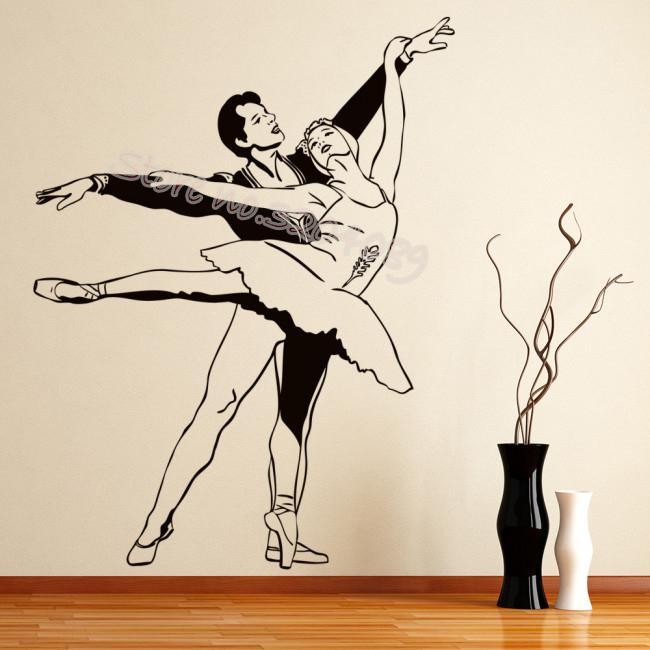 Dance Vinyl Decal Wall Decor Stickers Letters Teen Room Decor Ballet Dancing