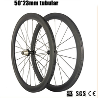 Catazer Superlight Racing Bicycle wheelset Road Bike powerway R36 Straight pull Hub 50mm Depth Profile Tubular Carbon wheels