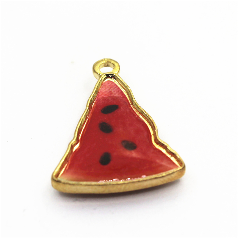 10pcs Fruit Haning Charm Watermelon Kiwi Orange Pineapple Charms For DIY Necklace Dangle Charm Findings Jewelry Accessories