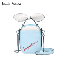 767f31bc8 Vento Marea Women Handbags Crossbody Bags Single Chains Bow Bags Cotton  Tote Black White Spring Bags. Vento Marea mujeres bolsos ...