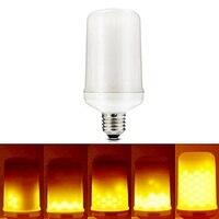 Затемнения 5 Вт светодиодные лампы накаливания E27 пламя светодиодные лампы мерцание общего дыхания Освещение режима 1300 К AC110-240V