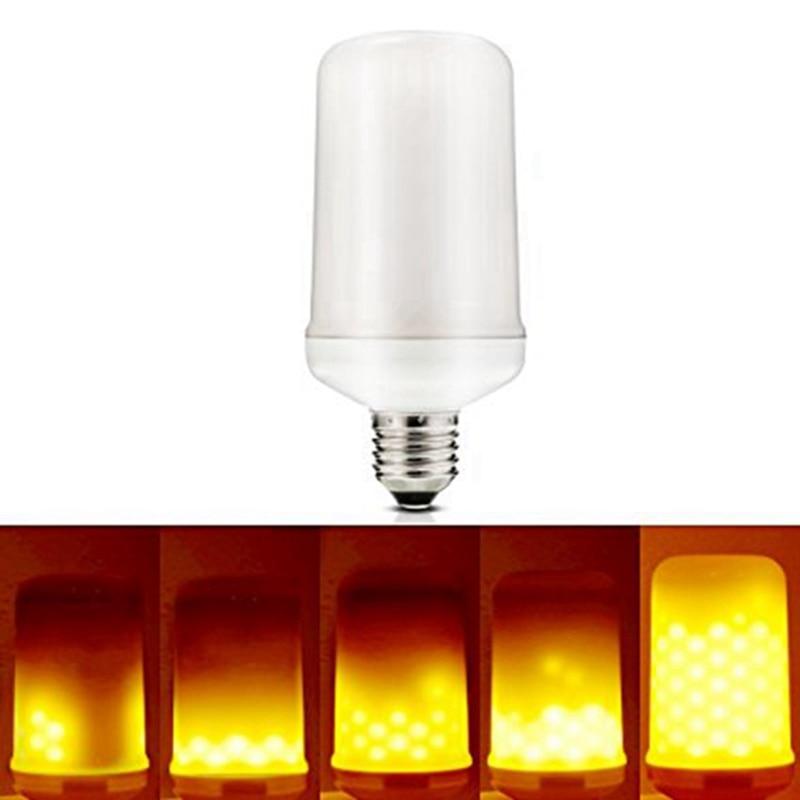 Dimmable 5W LED Lamp Bulb E27 Flame LED Light Bulb Flickering Breathing General Lighting Modes 1300K