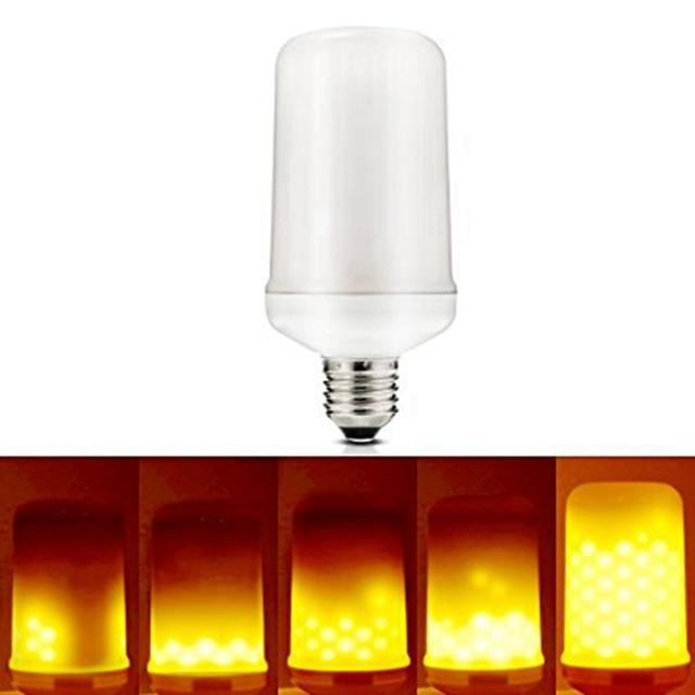 Dimmbare 5 Watt LED Lampe E27 Flamme LED Glühbirne Flackern Atmen ...
