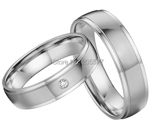 лучшая цена 2014 classic European style custom health titanium engagement wedding bands couples rings sets