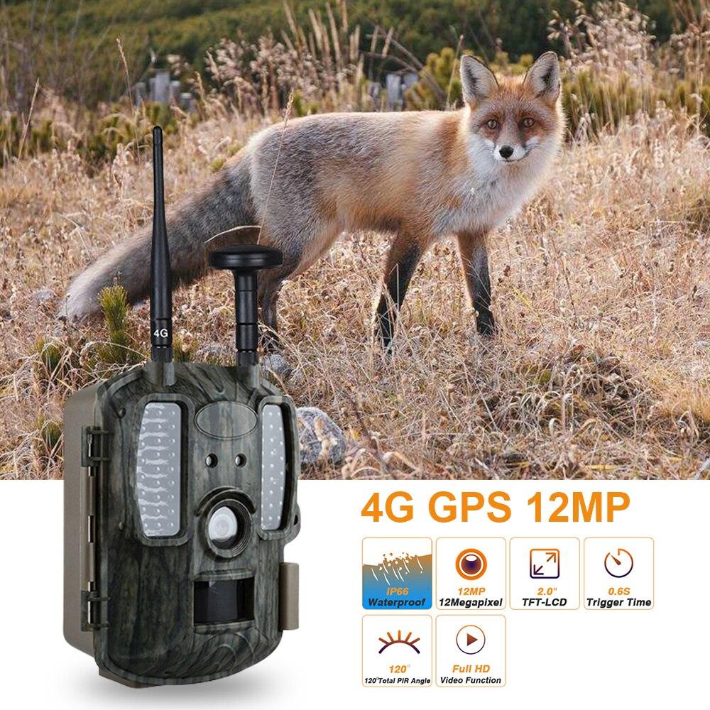Le plus nouveau 4G GPS caméra de Chasse infrarouge Vision nocturne caméras de Chasse Trail faune chasseur Cam Scouting Chasse Photo pièges MMS GSM