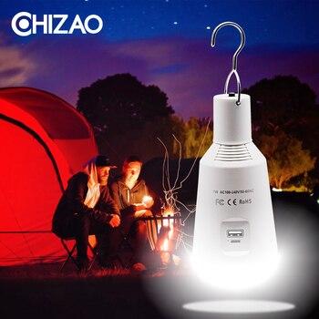 CHIZAO Solar Lâmpada LED E27 110 V-220 V Luz De Energia Solar Interior Ao Ar Livre Lâmpada Tenda Solar Energia Portátil De Emergência Multi-função Caminho Garagem Cerca Deck