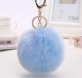 Горячий продавать 5 цвета мех кролика мяч брелок сотовый телефон сумка плюшевые автомобилей брелок милые брелки для женщин дети подарок