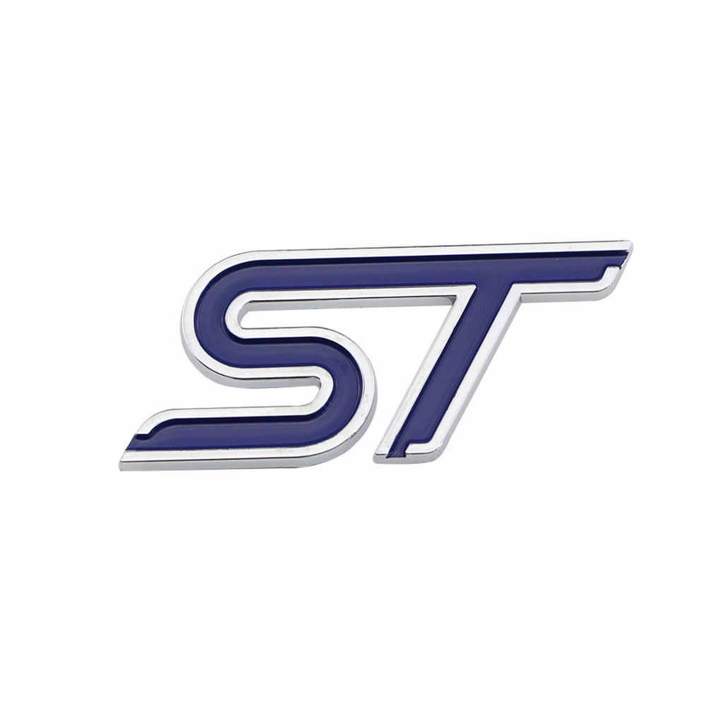 色私の人生 ABS クローム 3D St ステッカースポーツスタイルフォードフォーカス 2 3 4 フィエスタ Ecosport 久我モンデオエベレストアクセサリー
