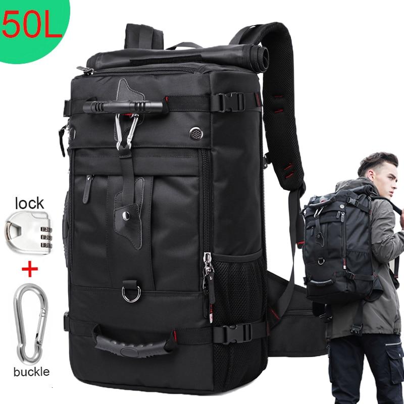 magasin d'usine 865e9 ccf85 € 30.47 38% de réduction|KAKA énorme capacité 50L étanche voyage sac à dos  hommes femmes alpinisme multifonction mâle sacs à dos en plein air bagages  ...