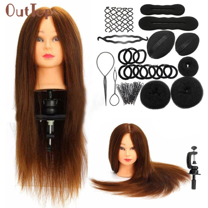 ФОТО Beauty Girl Hot Fashion Hairdressing Training Model Practice Head + Braid Sets Oct 28