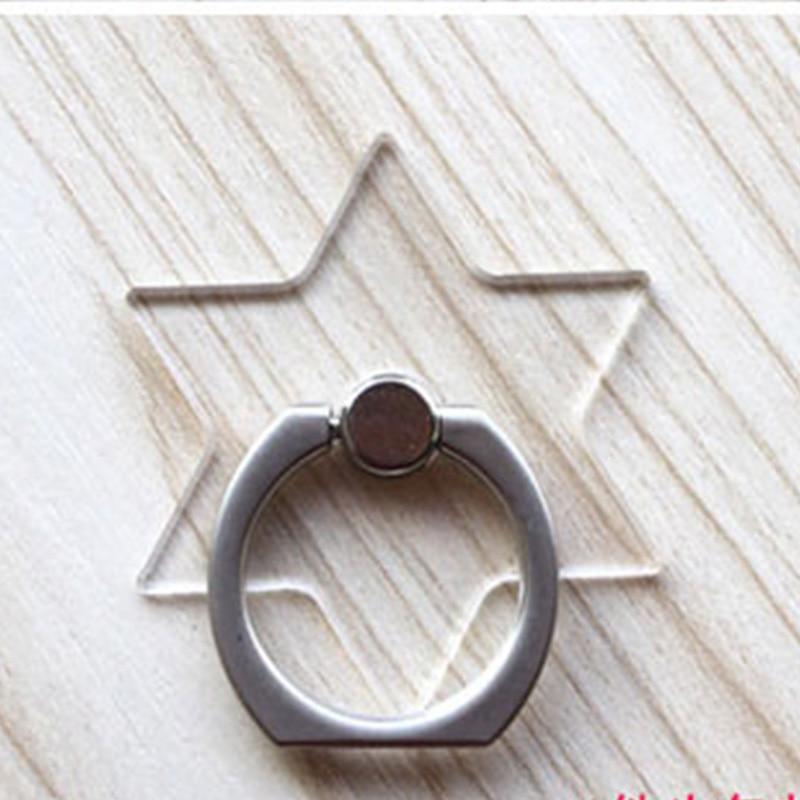 Кольцо-держатель мобильного телефона, подставка, держатель для мобильного телефона для iPhone, huawei, Xiaomi, кольцо-держатель для телефона, автомобильный мобильный телефон, поддержка смартфона - Цвет: Transparent star