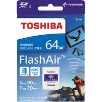 TOSHIBA Wi-Fi SD Card 64 Гб 32 GB 16 GB карта памяти U3 UHS W-04 FlashAir Беспроводной LAN High Скорость 2019 Новый