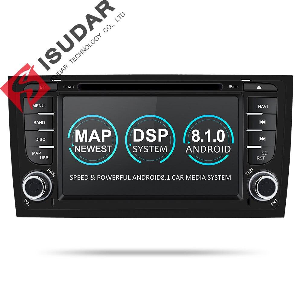 Isudar Voiture lecteur multimédia GPS Deux Din Android 8.1.0 DVD Automotivo Pour Audi/A6/S6/RS6 Radio FM quad Cores RAM 2 GB ROM 16 GB
