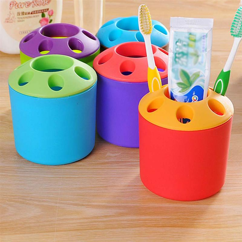 1 PC Portable Toothbrush Holder Toothpaste Stand Organizer Easy Clean Larger For Storage Use Home Bathroom Accessories-in Toothbrush & Toothpaste Holders from Home & Garden