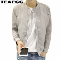 TEAEGG Blouson Homme 2019 Summer Jacket Men Fashions Casual Windbreaker Men Jackets Coat Blaser Masculino Plus Size 4XL AL944