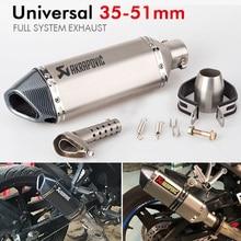 51MM Universal Motorcycle Exhaust Pipe Muffler Akrapovic Escape Moto with db killer For KTM390 cb1000r R6 cbr650f mt07 цены