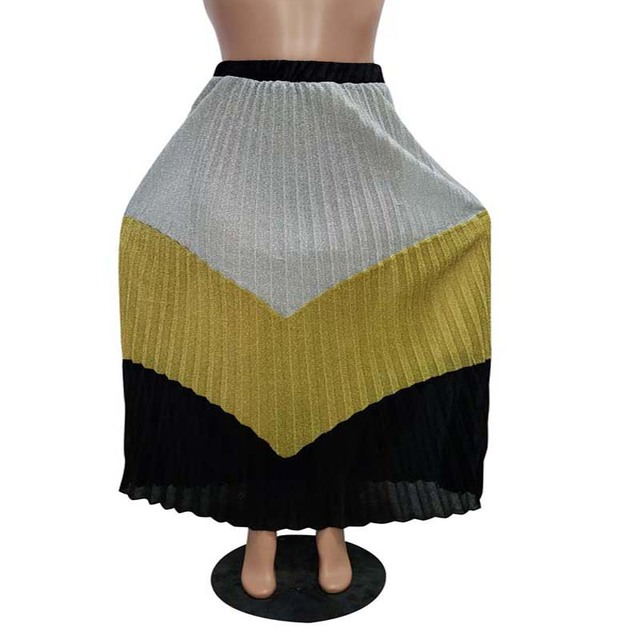 Africa Clothing Fashion Classic Elegant Multicolor Long Skirt Women High Waist Plus Size