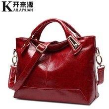 KLY 100% Genuine leather Women handbags 2019 New Cross-Section Portable Shoulder Motorcycle Bag Fashion Vintage Messenger