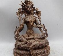 14 «Китай Китайский Буддизм Чистая Бронзовый Сиденья Белая Тара Богиня Статуя Будды