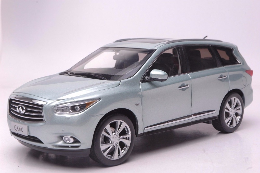 1:18 Diecast Model for Infiniti QX60 2014 Silver Blue SUV Alloy Toy Car Miniature Collection Gift FX50 FX 1 18 vw volkswagen teramont suv diecast metal suv car model toy gift hobby collection silver