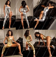 Golden silvery Leatherwear* 3099*Ladies Thongs G string Underwear Panties Briefs T back Swimsuit Bikini Free Shipping