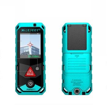 Mileseey T7 télémètre laser 60 M Bluetooth Télémètre Laser avec Écran Tactile Rotatif Rechargeable angle/zone Compteur Laser