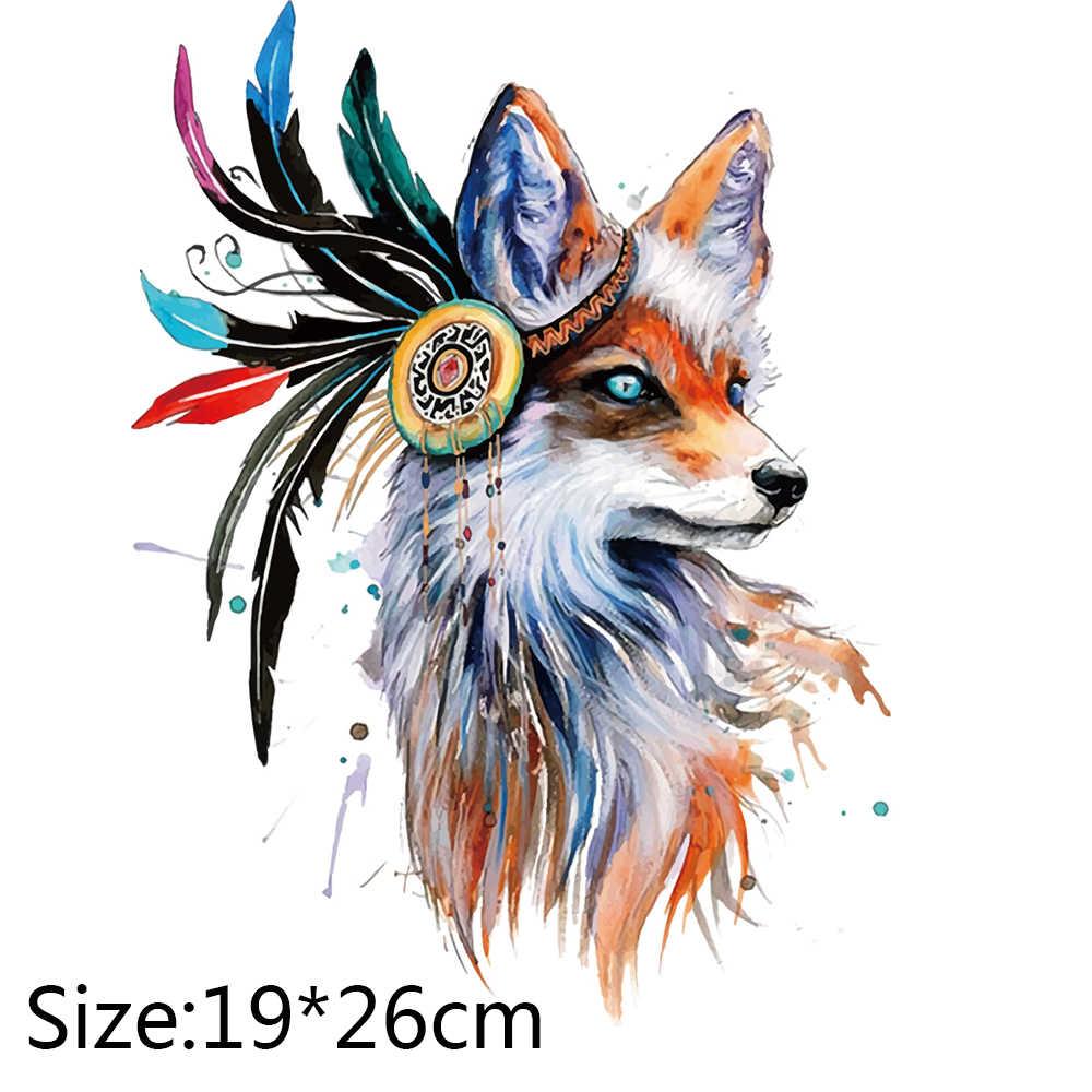 1PC Fox Patches Voor Kleding Kleurrijke Vos Patch T-shirt Jurken Trui DIY Accessoire Decoratie EEN-niveau Wasbare Geappliceerd