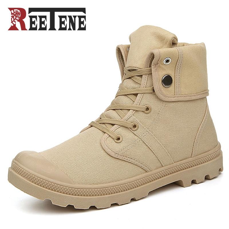 2017 New Canvas Boots Men Fashion Casual Shoes Men Ankle Boots High Quality Canvas Men Flats