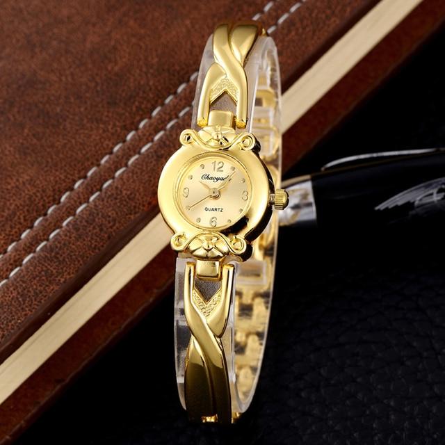 fc23b821a7d 18 K Banhado A Ouro Relógios Mulheres relógio de Pulso Fino Mulheres Ouro  Clássico Relógios Para
