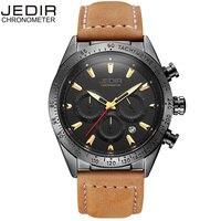 Часы из натуральной кожи для мужчин модные хронограф Спорт для мужчин s часы лучший бренд класса люкс кварцевые часы мужской час relogio Masculino