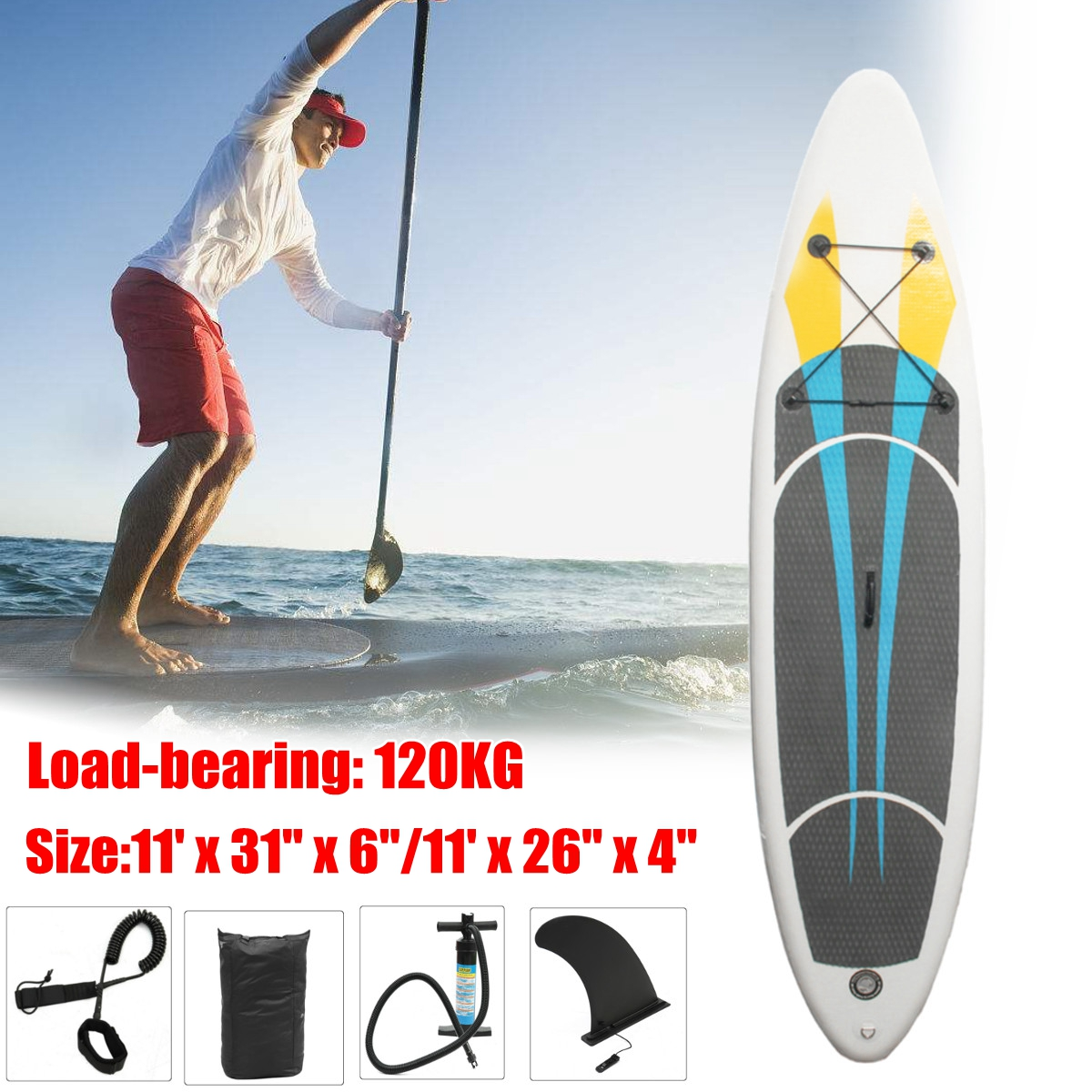 120KG 10FT SUP Inflatable Surfing Board Soft Surf Stand Up Paddle Board inflatable surf board sup paddle boat water sport inflatable sup board surf stand up paddle boards
