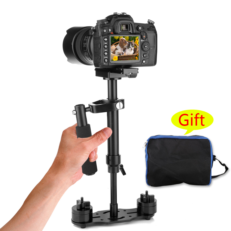 S40-S 40cm Professional Handheld Stabilizer Steadicam for Camcorder Digital Camera Video Canon Nikon Sony DSLR Mini Steadycam s40 40cm professional carbon fiber mini dslr video camera dv camcorder stabilizer steadycam steadicam for canon sony nikon gopro
