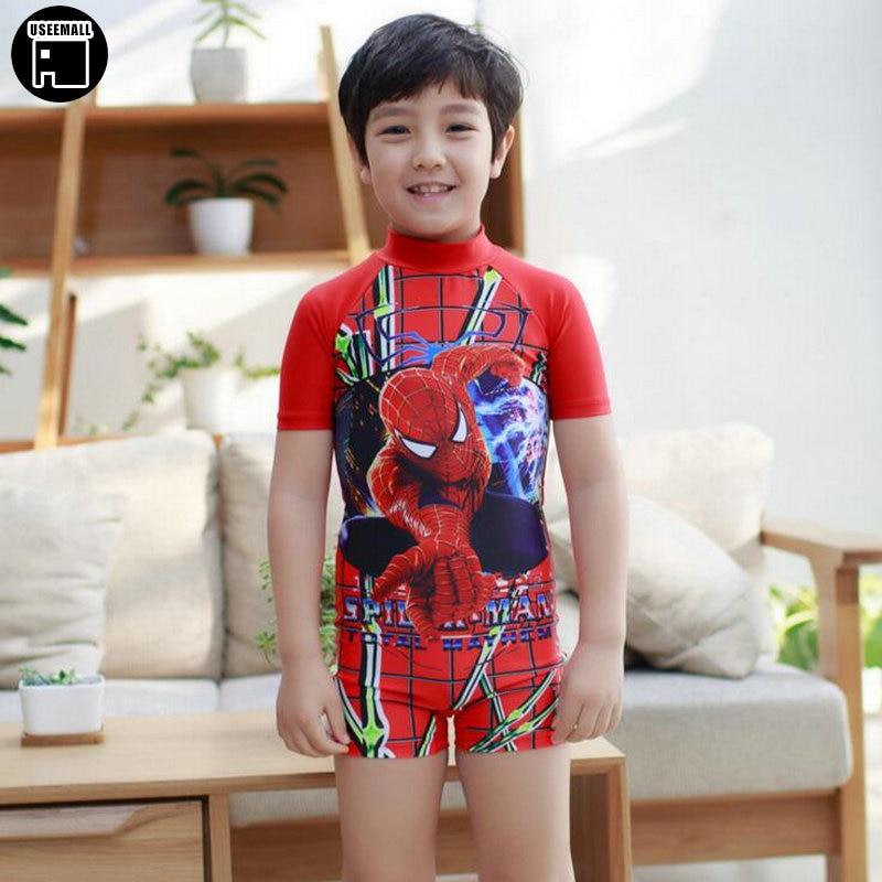 Spiderman One-Piece Boys Swimwear 2-9Y Cartoon Pattern Children's Swimming Clothes Boy Swim Surfing Beach Bathing Suit Swimsuit