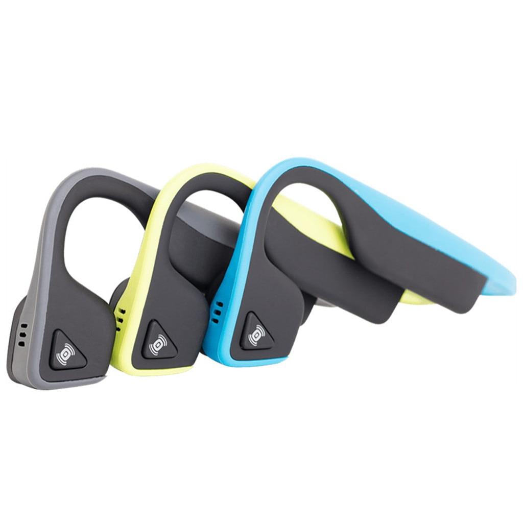 2019 Trekz Titanium Air Open-Ear Wireless Bone Conduction Headphones Bluetooth Earphones with Mic Wireless Sports He #Y8