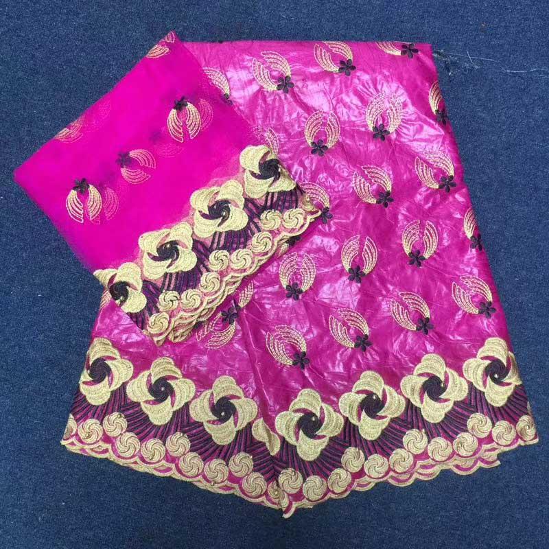 Стильный самое новое прибытие Африканский Базен Riche ткани вышивка французский Базен Riche Getzner Ткань 2 ярдов сеточку кружевной ткани комплекты