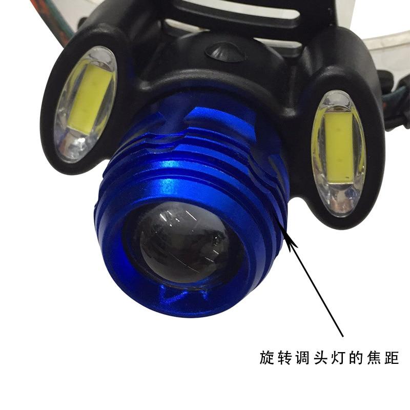 8000lm T6 + 2 * COB Światła Reflektorów zoomable Niebieski - Przenośne oświetlenie - Zdjęcie 4