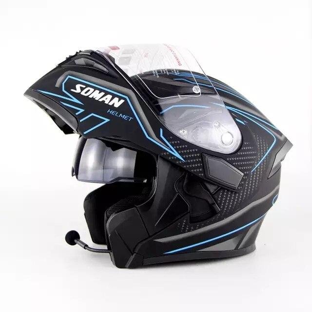 DOT Bluetooth Headset Double Visor Full Face Helmet Motorcycle Helmets Motorbike Capacetes Moto CascoesDOT Bluetooth Headset Double Visor Full Face Helmet Motorcycle Helmets Motorbike Capacetes Moto Cascoes