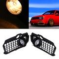 Lâmpada de halogéneo/LED 2 Estilo Auto Car Farol de Nevoeiro Conjunto Da Lâmpada de Luz de Circulação Diurna de Condução de Luz Externa Para Volkswagen Golf 3
