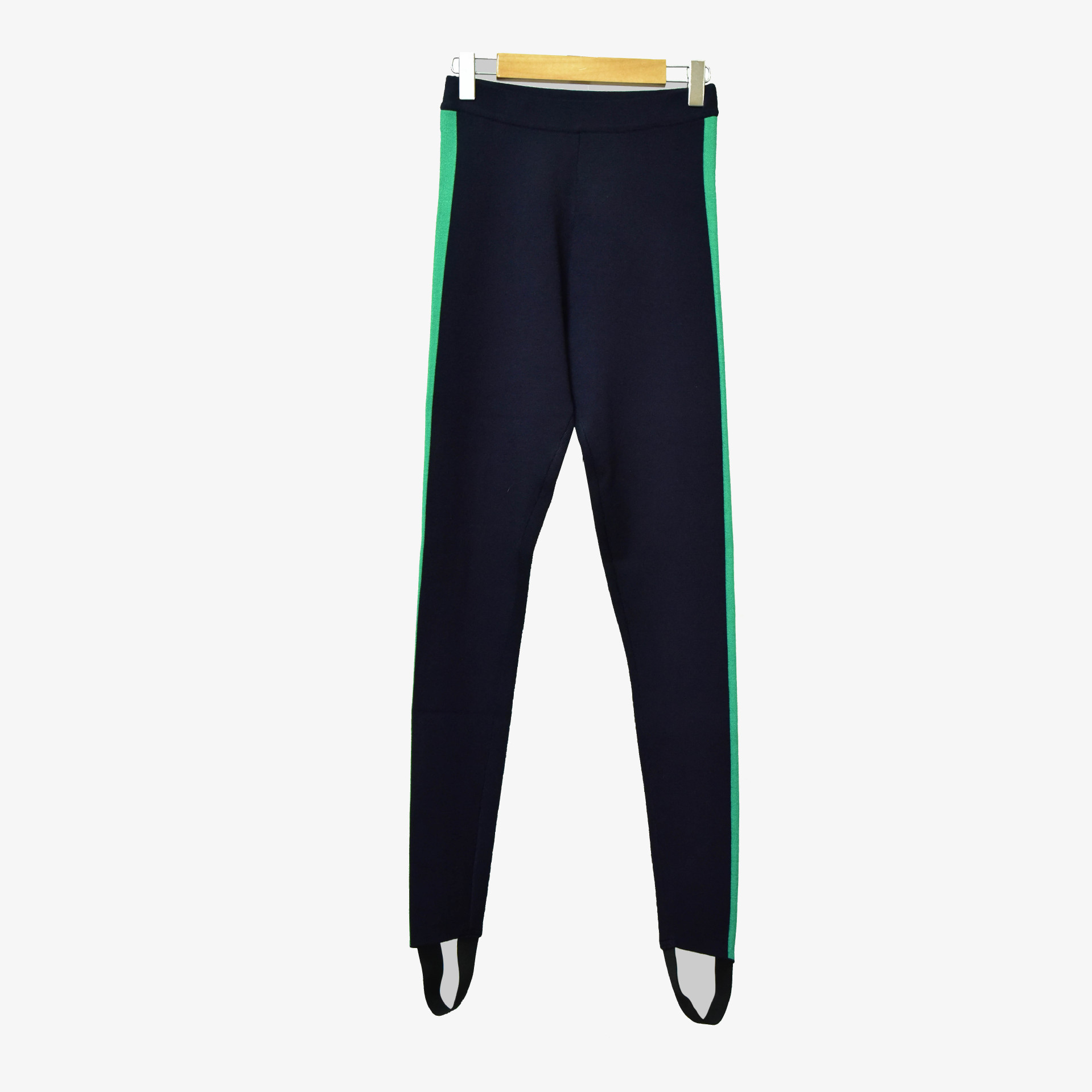 Image 2 - Women Pants 2019 Autumn and Winter Side Green Strip Casual Pants Stepping PantsPants