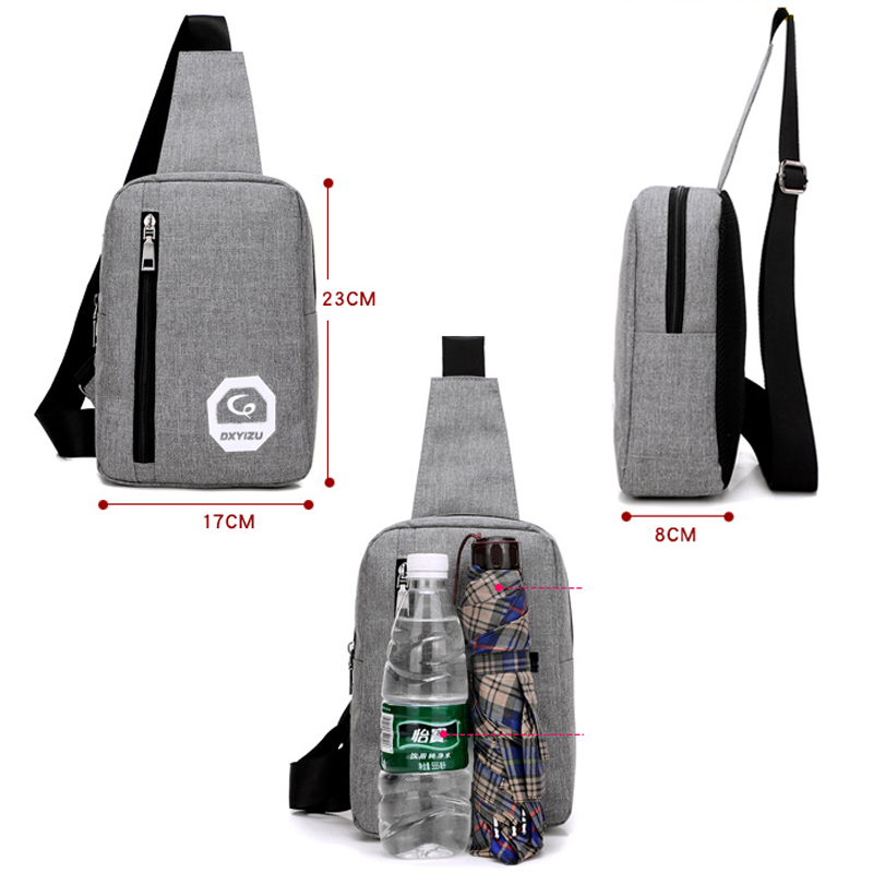 Fashion Crossbody Sling Kotid Canvas rinnus Pack Meeste kotid Väike - Käekotid - Foto 4